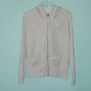 Disney Parks Heathered Gray Minnie Mouse Hoodie